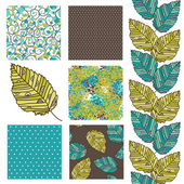 Seamless pattern set — Stockvektor