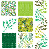 Seamless patterns set — Vettoriale Stock