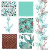 Seamless patterns set — Stockvector