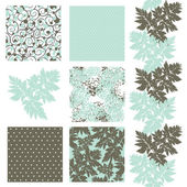 Seamless patterns set — Vetorial Stock
