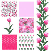 Seamless patterns set — Stok Vektör