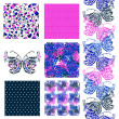 Seamless patterns set — Stock Vector #42911853