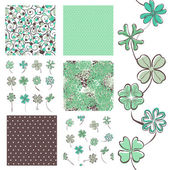 Seamless patterns set — ストックベクタ