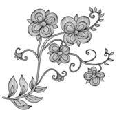 Dekoratif çiçek — Stok Vektör