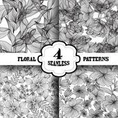 Seamless patterns set — Vector de stock
