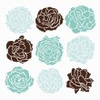 Roses set — Stock Vector #48871127