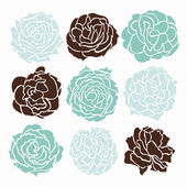 Roses set — Stock Vector