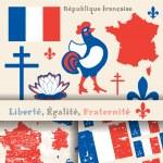 France symbols — Stock Vector