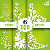 Eco cards set — Stock Vector