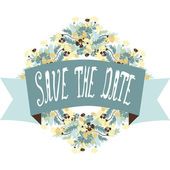 Save the date banner — Stock Vector