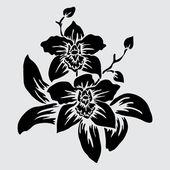 Blomdekorkvětinové dekorace — Stockvektor