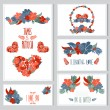 Floral cards set — Stock Vector #50647037