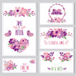 Floral cards set — Stock Vector #50647039
