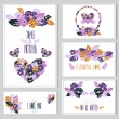 Floral cards set — Stock Vector #50647045