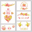 Floral cards set — Stock Vector #50647047