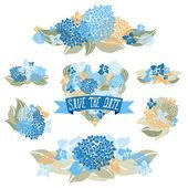 Floral bouquets — Stockvektor