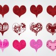 Set of hearts for valentine — Stock Vector #8707955