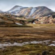 The colorful rhyolite mountains of Landmannalaugar, Iceland — Stock fotografie #21814635
