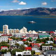 Aerial view of Reykjavik, capital of Iceland — Stock Photo #21904549