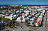 Aerial view of Reykjavik — Stock Photo