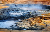 Mudpots in Hverir, Iceland. — Stock Photo