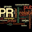 Public relations concept in tag cloud — Stock Photo #11282156