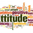Attitude concept in word tag cloud on white background — Stockfoto