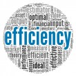Efficiency concept in word tag cloud — Stockfoto #12226313