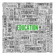 Education and learning concept words in tag cloud — Stock Photo