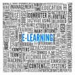 E-learning concept in tag cloud — Stock Photo #12226321
