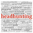 Headhunting concept in word tag cloud — Stock Photo #12226333