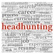 Stock Photo: Headhunting concept in word tag cloud