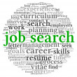 Job search concept in word tag cloud — Stock Photo
