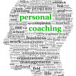 Personal coaching in tag cloud - Stock Photo