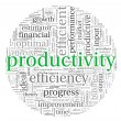 Productivity concept in word tag cloud  — Foto de Stock