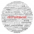 Recruitment concept in word tag cloud — Stock Photo #12226399