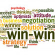 Stock Photo: Win-win negotiation solution concept in word tag cloud