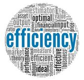 Efficiency concept in word tag cloud — Stock Photo