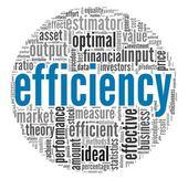Efficiëntie concept in de wolk van de markering van de woord — Stockfoto