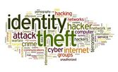 Identity theft concept in word tag cloud — Stock Photo