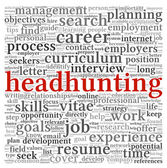 Headhunting concept in word tag cloud — Stock Photo