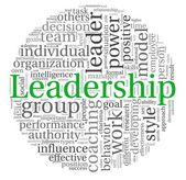 Leadership concept in word tag cloud — Stock Photo