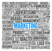 Marketing concept in word tag cloud — Stock Photo