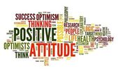 Positive attitude concept in word tag cloud — Stock fotografie