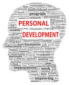 Personal development in tag cloud — Stock Photo
