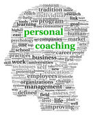 Personal coaching in tag cloud — Stock Photo