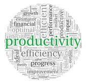 Productivity concept in word tag cloud — Stockfoto