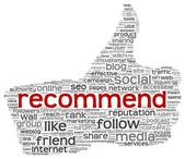 Recommend concept as social media symbol — Stock Photo