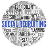 Concepto social de reclutamiento en tag cloud de palabra — Foto de Stock