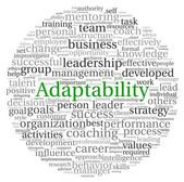 Adaptability concept in word tag cloud — Stock Photo